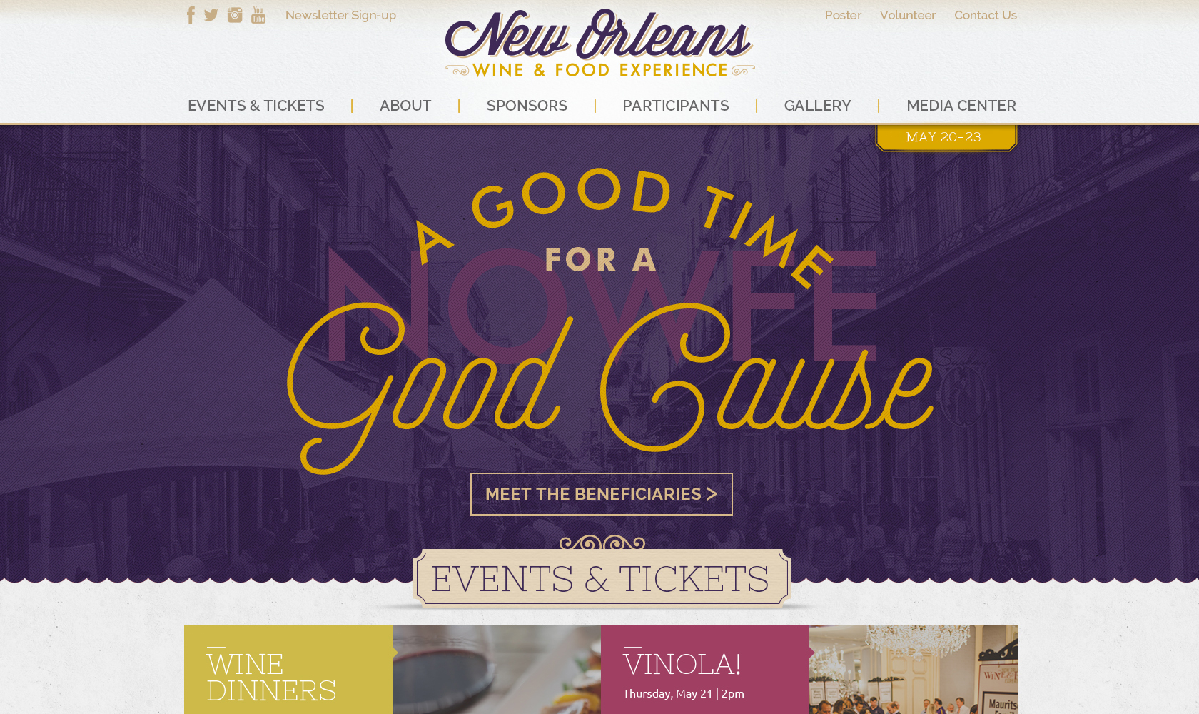 New Orleans Wine and Food Experience graphics